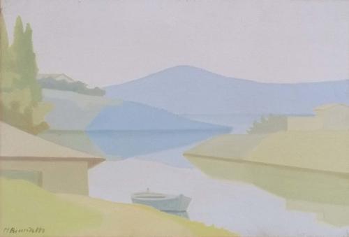 Benedetti - Lungo il fiume 35x50