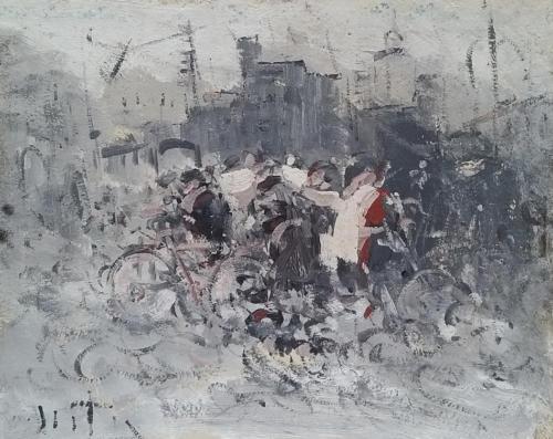 Raduno in piazza 40x50