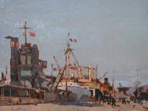 Impressione al porto 45x60