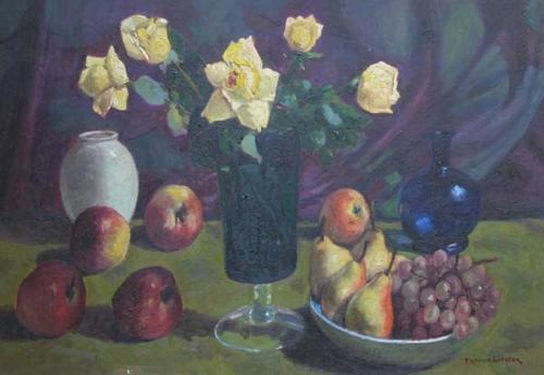 Lipizer - natura morta con rose 40x60