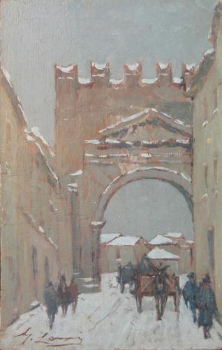 Rimini sotto la neve - cm 29x18