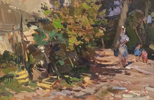 Luschi - In giardino 20x30