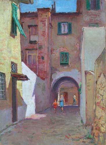 Livorno scomparsa, L'arco di via Gramsci - cm 30x40