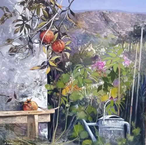 Scola - Nel giardino 70x70