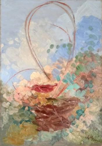 Cestina di fiori - cm 35x50