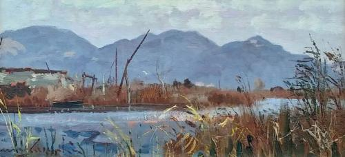 Lago di Massaciuccoli - cm 20x40