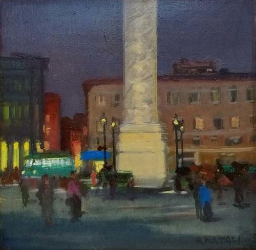 Piazza Colonna a Roma - cm 20x25